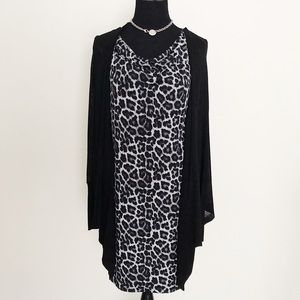 Michael Kors Leopard Print Tunic Dress